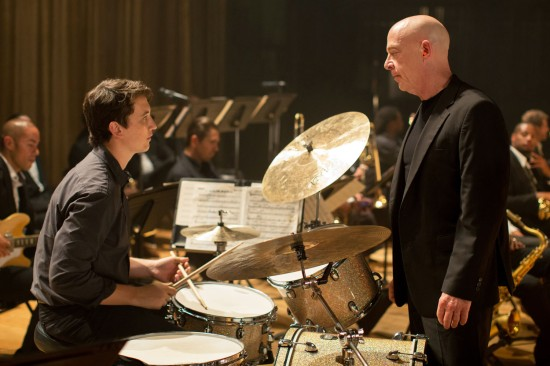 Miles Teller, left, and J.K. Simmons as student and teacher in the film